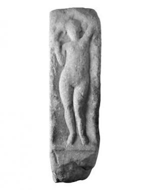 Kvader z reliefom nimfe