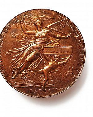 Priznanje Jeklarni grofa Thurna na industrijski razstavi v Parizu leta 1878