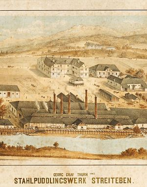 Thurnova jeklarna na Ravnah na Koroškem v šestdesetih letih 19. stoletja